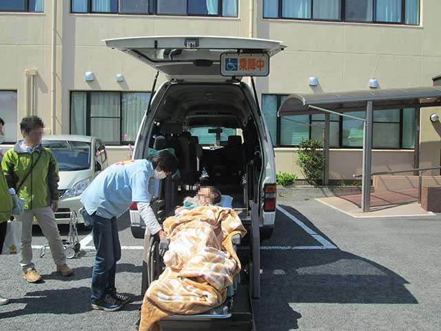 転院先の長崎の病院に到着。