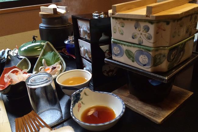 写真:龍神温泉でのお食事