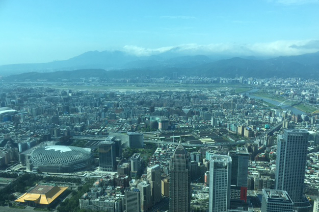 写真:台湾101からの景観