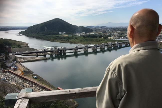 写真:犬山城天守閣からの風景
