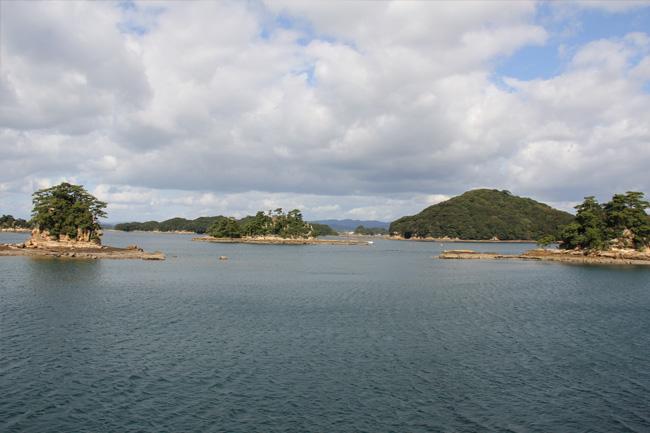 写真:九十九島を船から