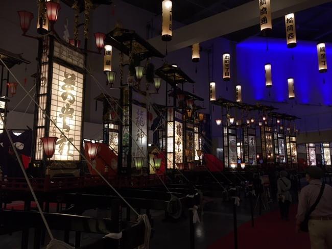 写真:輪島キリコ会館の内部