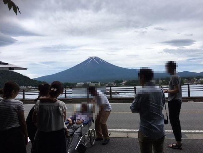 写真:やっと富士山との対面
