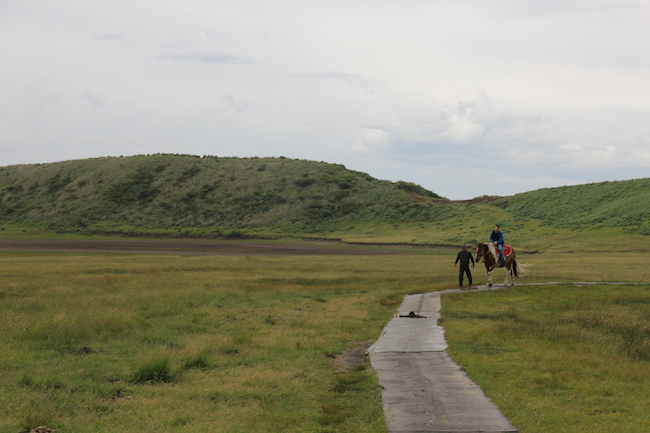 写真:馬に乗るお客様