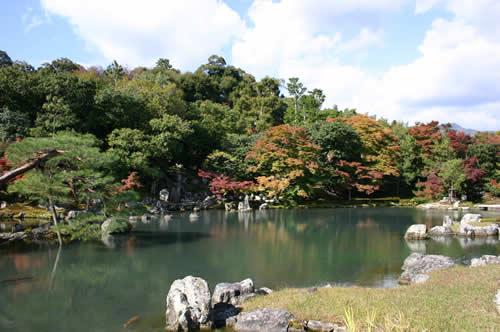 写真:嵯峨嵐山の美しい庭園