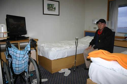 写真:船の客室の様子